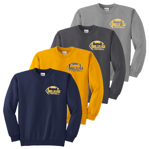 Bulldog Football Crewneck