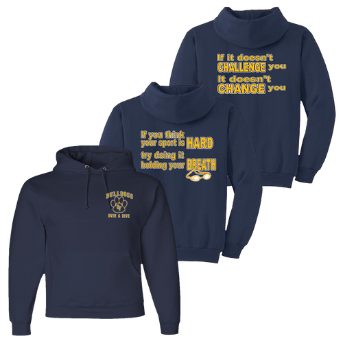Bulldogs Swim & Dive Hoody - Navy