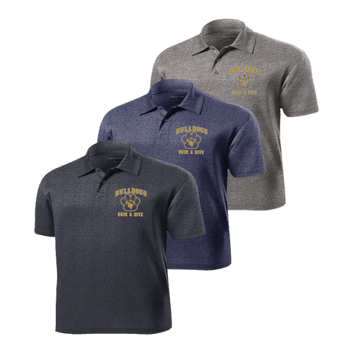 Bulldogs Swim & Dive Heathered Polo