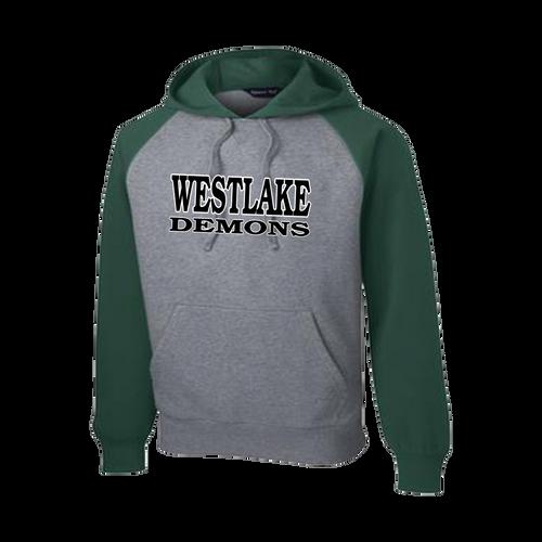 Westlake Baseball Raglan Hooded Sweatshirt (F101)