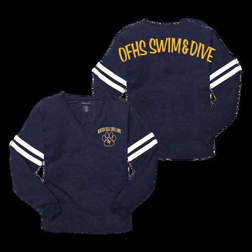 Bulldogs Swim & Dive POM-POM Varsity Jersey (S052)