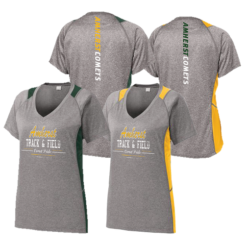 Amherst Comets Colorblock Ladies Tee