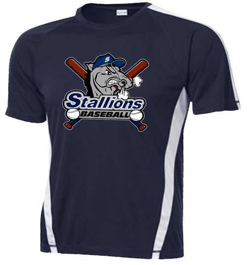 Stallions Colorblock Performance Tee