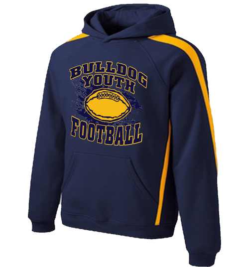 Bulldog Youth Football Colorblock Hoody