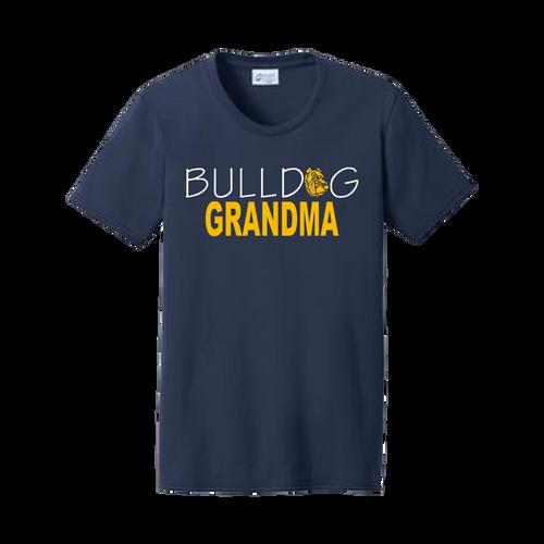 Bulldog Grandma Ladies Tee