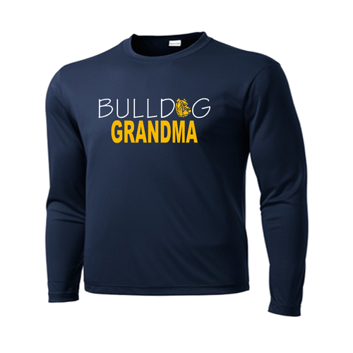 Bulldog Grandma Performance Tee LS