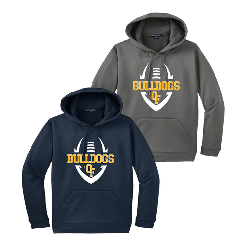Bulldog Football Performance Hoody