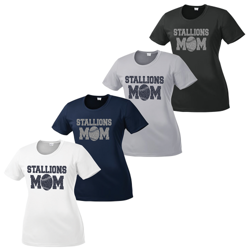 Stallions Mom Ladies Performance Tee