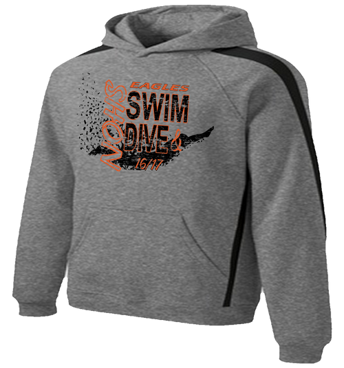 NOHS Swim & Dive Stripe Hoodie