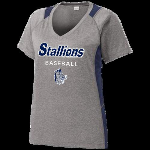 2017 Stallions Ladies Colorblock Performance Tee (F142)