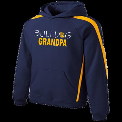 Bulldog Grandpa Colorblock Hoody