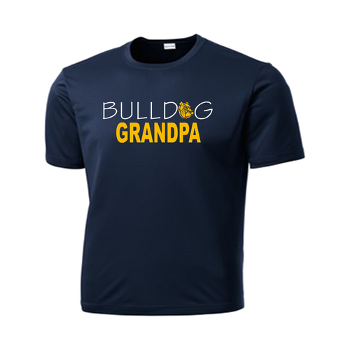 Bulldog Grandpa Performance Tee