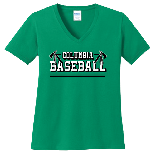 Columbia Baseball Ladies V-Neck Tee