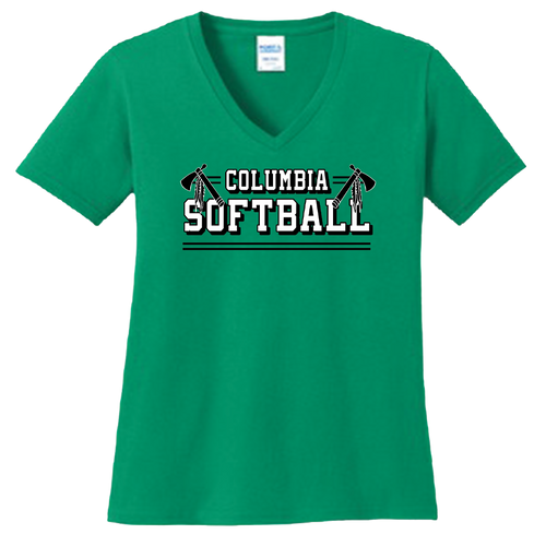 Columbia Softball Ladies V-Neck Tee