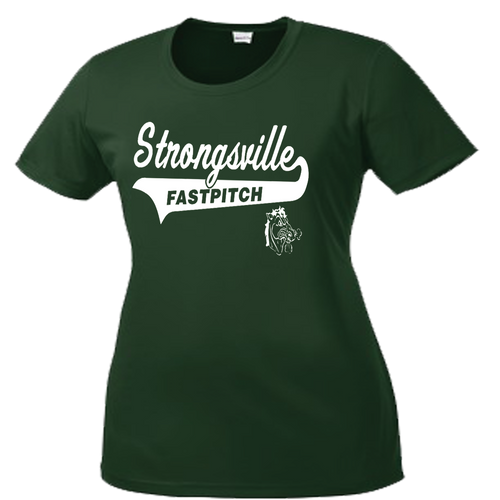 Strongsville Mustangs Ladies Performance Tee