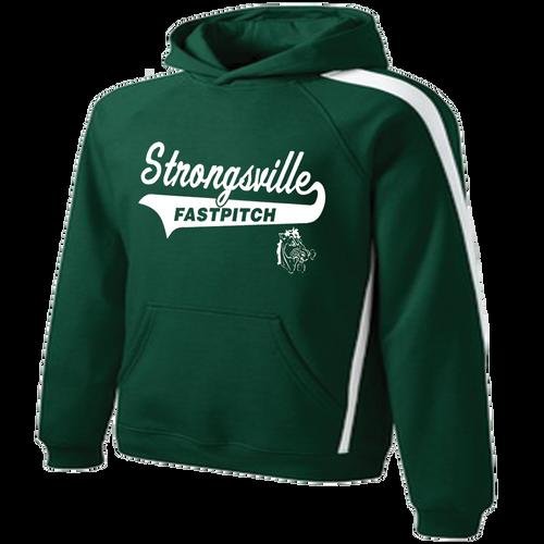 Strongsville Mustangs Stripe Hoodie