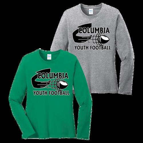 Columbia Youth Football Ladies LS Tee