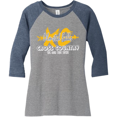 OFMS Cross Country Ladies Perfect Tri 3/4 Sleeve Raglan