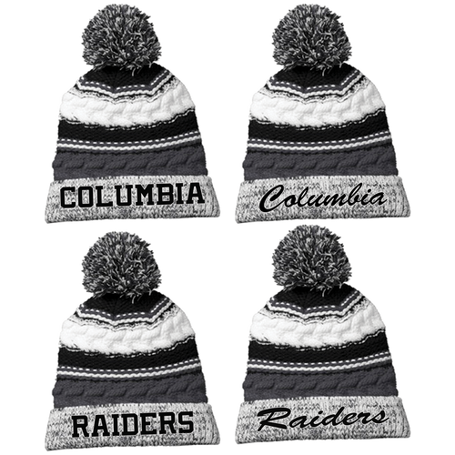Columbia Raiders Pom Pom Beanie (RY200 RY202 RY204 RY206) - RycoSports a707edfed50