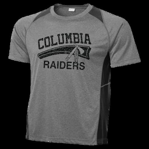 Columbia Raiders Colorblock Contender Tee - Vintage Heather Black