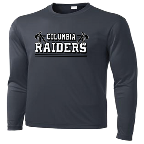 Columbia Raiders Performance Tee LS - Iron Grey