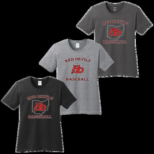 Red Devils Baseball Ladies Tee