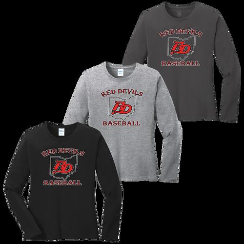 Red Devils Baseball Ladies LS Tee