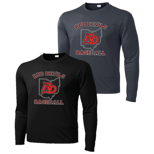 Red Devils Baseball Performance LS Tee