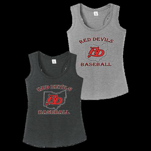 Red Devils Baseball Ladies Perfect Tank