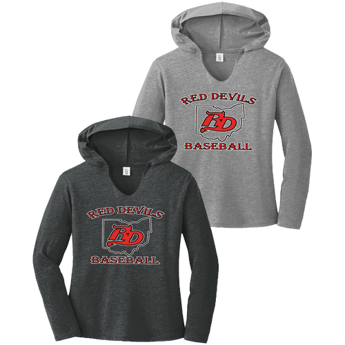 Red Devils Baseball Ladies Perfect Tri Long Sleeve Hoodie