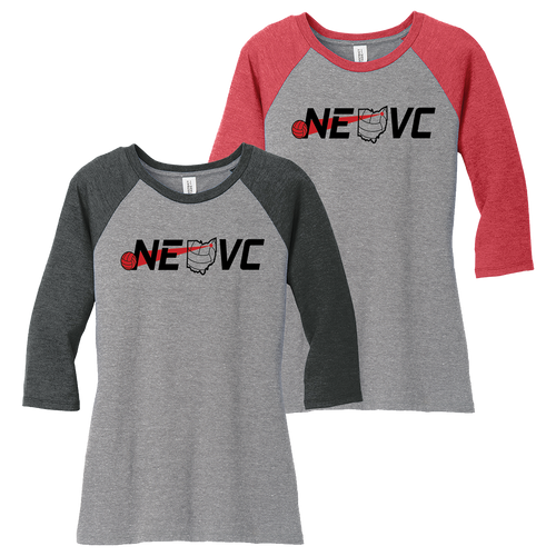 NEO Volleyball Clue Perfect 3/4 Sleeve Raglan Tee