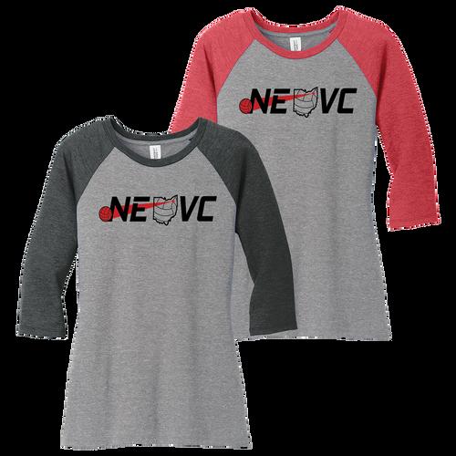 NEO Volleyball Clue Perfect 3/4 Sleeve Raglan Tee