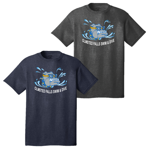 Bulldogs Swim & Dive Heathered Tee