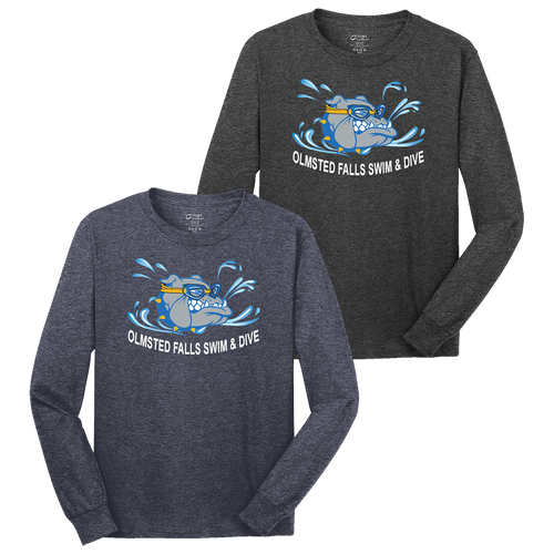 Bulldogs Swim & Dive Heathered LS Tee