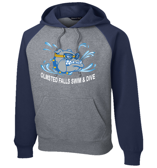 Bulldogs Swim & Dive Raglan Colorblock Hoodie