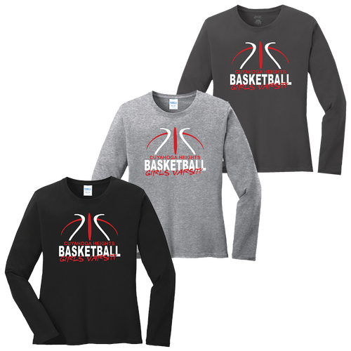 Cuyahoga Heights Girls Basketball Ladies LS Tee