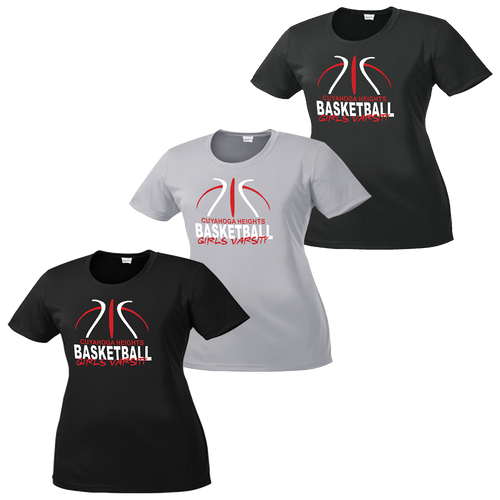 Cuyahoga Heights Girls Basketball Ladies Performance Tee