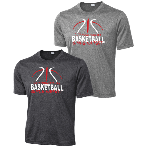 Cuyahoga Heights Girls Basketball Heather Contender Tee