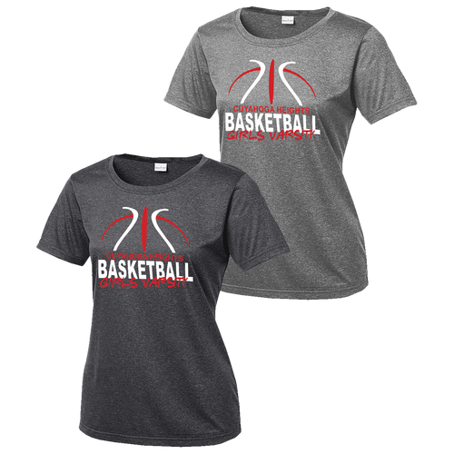 Cuyahoga Heights Girls Basketball Ladies Heather Contender Tee