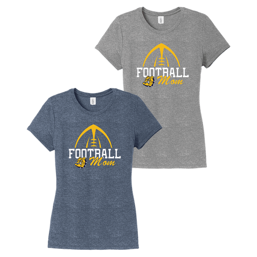 OF Bulldog Football Moms Ladies Perfect Tee