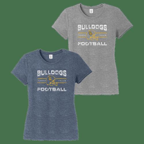 OF Bulldog Football Moms Ladies Perfect Tee