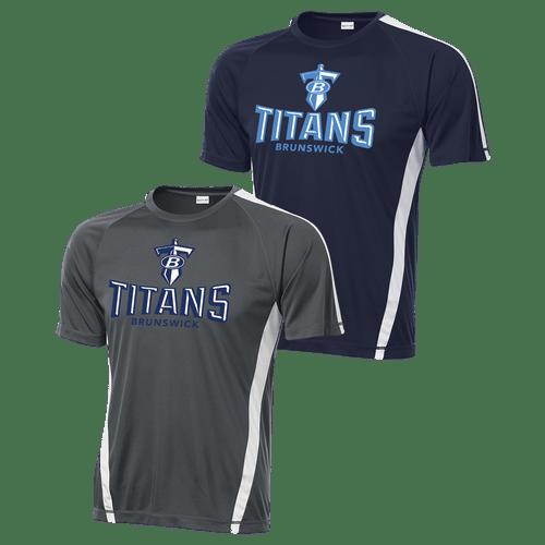 Brunswick Titans Colorblock Competitor Tee
