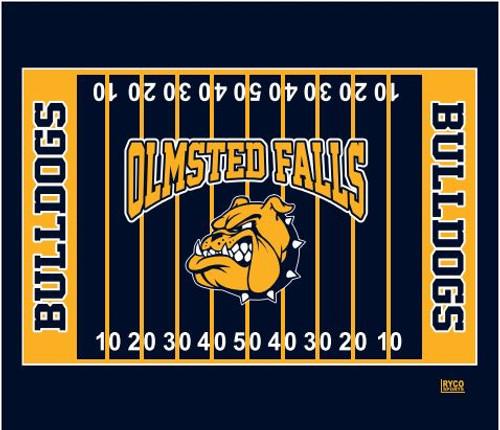 OFAB Bulldog Football Super Plush Blanket