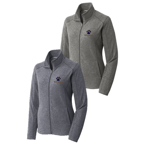 OFAB Ladies Heather Microfleece Full-Zip Jacket