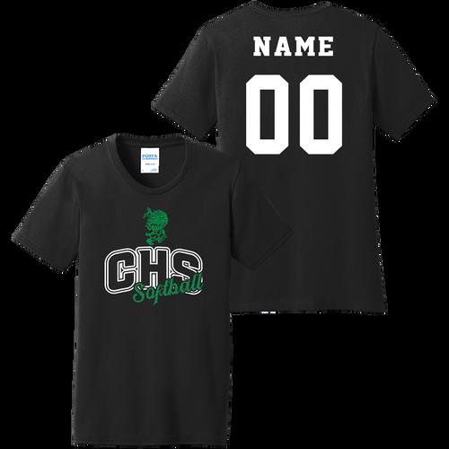 Columbia High School Softball Ladies Tee (F270)