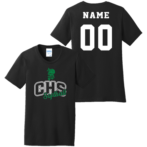 Columbia High School Softball Ladies Tee (F270)
