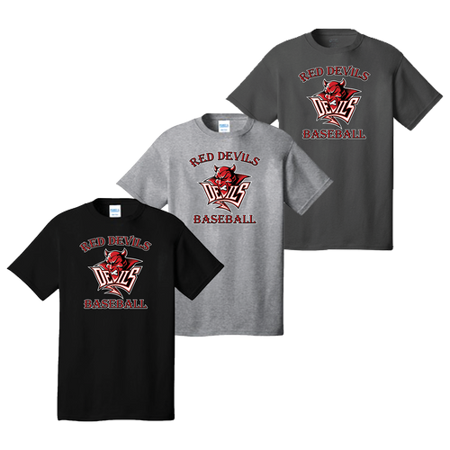 Red Devils Baseball Tee