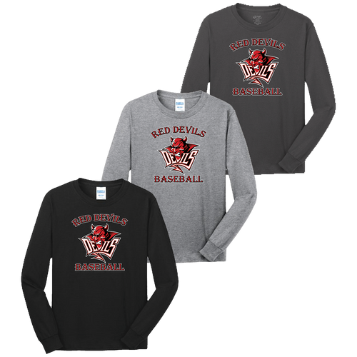 Red Devils Baseball LS Tee