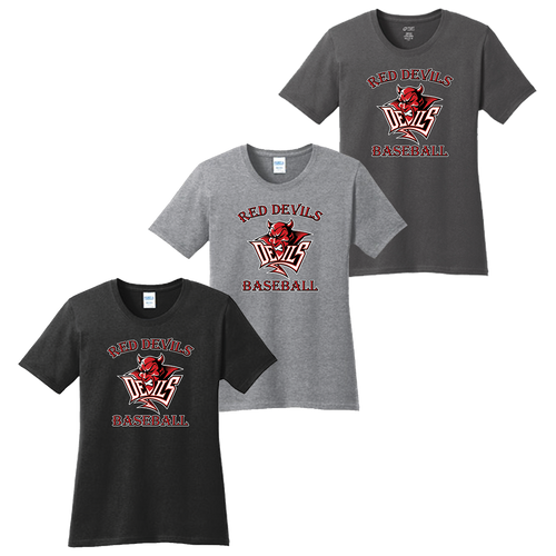Red Devils Baseball Ladies Tee