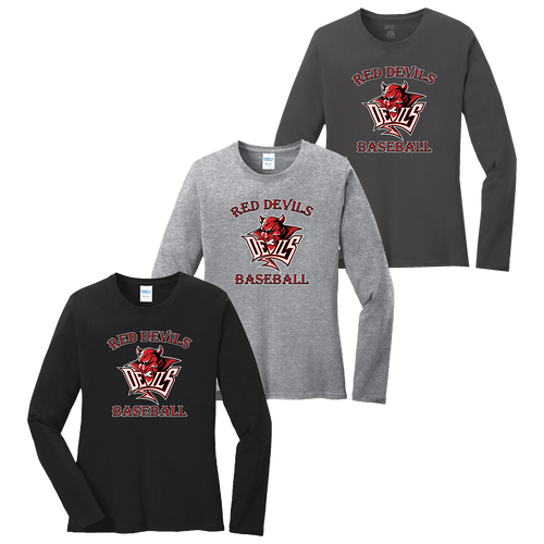 Red Devils Baseball Ladies LS Tee